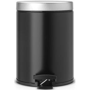 Brabantia Pedalspand 5 liter, matt black