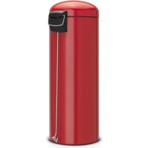 Brabantia Retro Pedalspand 20L Slimline, rød