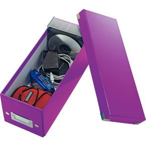 Leitz Click & Store CD-boks, lilla