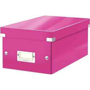 Leitz WOW Click & Store DVD-boks, pink