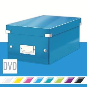 Leitz WOW Click & Store DVD-boks, blå