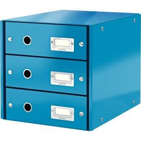 Leitz Click & Store skuffekabinet 3 rum, blå