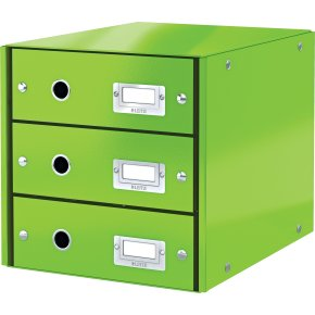 Leitz Click & Store skuffekabinet 3 rum, grøn