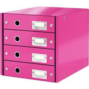 Leitz Click & Store skuffekabinet 4 rum, pink