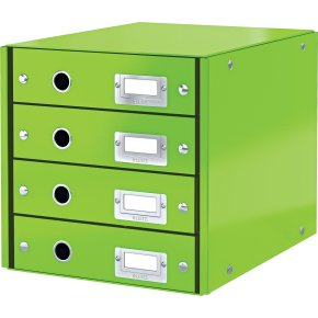 Leitz Click & Store skuffekabinet 4 rum, grøn