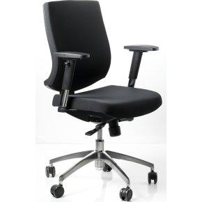 Trento kontorstol m/ stof sæde og ryg