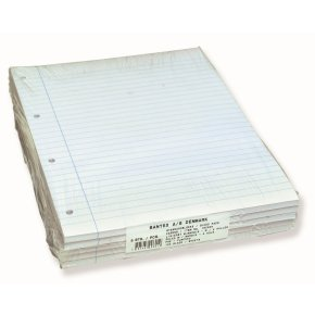 Bantex standardblok A4, linjeret, sidelimet