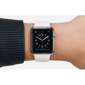 Apple Watch Sport, 42 mm, hvid aluminium