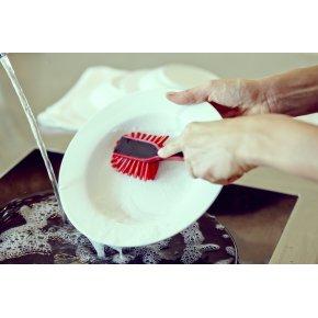 Plast Team Opvaskebørste m. magnet, rød