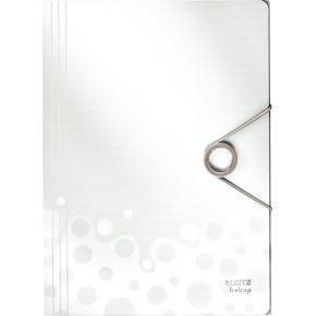 Leitz Bebop elastikmappe A4, PP, hvid