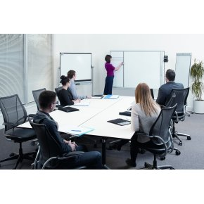 Nobo Prestige Whiteboard m/connex ramme 90x120 cm