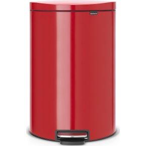 Brabantia Flatback Pedalspand 40 liter, rød