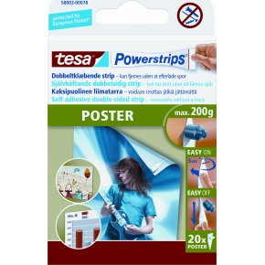 tesa powerstrips poster 20 stk k b til fast lav pris lomax a s. Black Bedroom Furniture Sets. Home Design Ideas