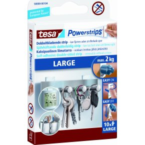 tesa Powerstrips Large, 10 stk.