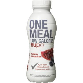 Nupo One Meal Shake blåbær & granatæble, 330 ml