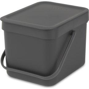 Brabantia Sort&Go Sorteringsspand 6 liter, grå
