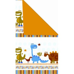 Gavepapir Dinosaur dobbeltsidet, 57 cm x 154 m