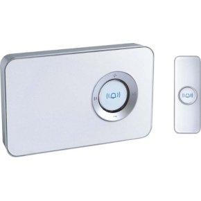 Trådløs dørklokke m/ MP3, hvid