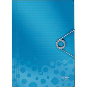 Leitz Bebop elastikmappe A4, PP, blå