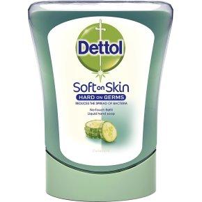 Dettol No-Touch sæbe REFILL, m. agurk,  250ml