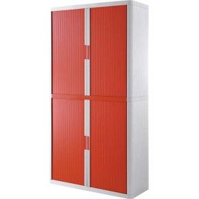Paperflow Easy Office 2 m, 4 hylder, Hvid/rød