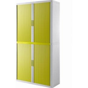 Paperflow Easy Office 2 m, 4 hylder, Hvid/grøn