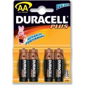 Duracell str. AA Plus MN 1500 batteri, 4stk