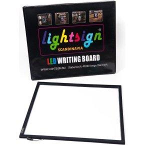 Lightsign A2 LED lysskilt til væg - gennemsigtigt