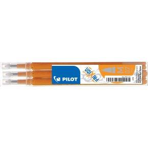 Refill til Pilot Frixion Clicker, orange, 3 stk.