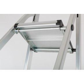 Trappestige 5 trin, aluminium, højde 106 cm
