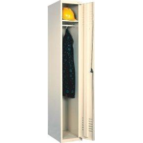 Proff garderobeskab, 1x1 rum,Ben,Cylinderlås,Grå