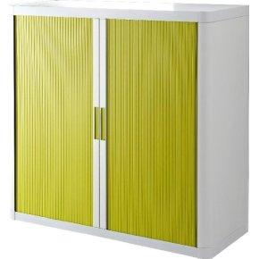Paperflow Easy Office 1 m, 2 hylder, Hvid/grøn