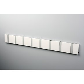 KNAX 8 knagerække, vandret, hvid/grå