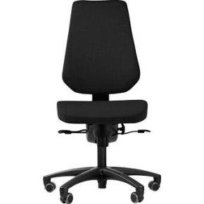 RBM 829 high kontorstol, sort, høj gas