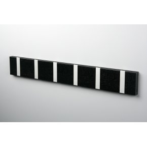 KNAX 6 knagerække, vandret, sortbejdset eg/grå