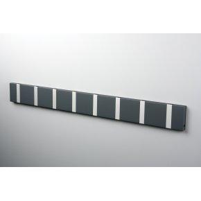 KNAX 8 knagerække, vandret, antracit/grå