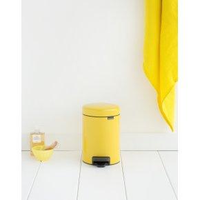 Brabantia Pedalspand 3 L, daisy yellow