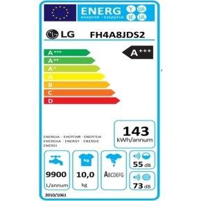 LG FH4A8JDS2 vaskemaskine, 10 Kg, A+++(-40%)