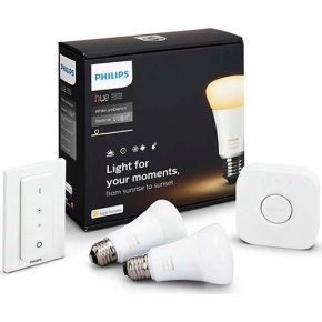 Philips HUE White Ambiance E27 starterkit m/dæmper