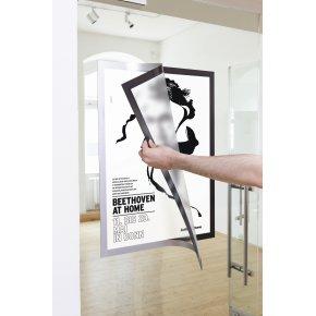 Durable DURAFRAME Poster A2, sølv, 1 stk.