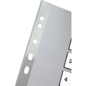 Esselte register A4, 1-5, plast, grå