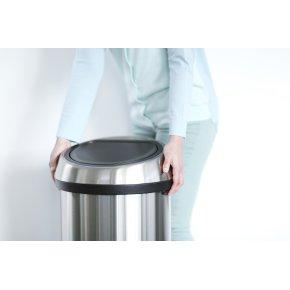Brabantia Touch Bin 60L,brilliant steel/matt black