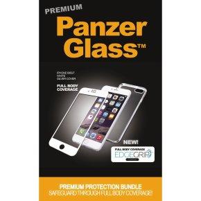 PanzerGlass PREMIUM iPhone 6/6S/7 hv/sølv, sampak