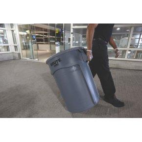 BRUTE rund affaldsbeholder, 75,7 liter, Gul