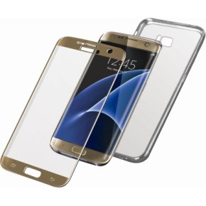 PanzerGlass PREMIUM Samsung S7 Edge Gold w/Edge