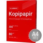 Lomax kopipapir / printerpapir A4/80g/500 ark