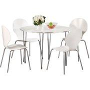 Comfort Classic kantinesæt m. 4 stole hvid/krom