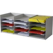 Paperflow skuffemodul 15 skuffer, 313x327x857, grå