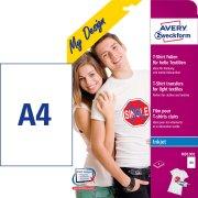 Avery MD1001 t-shirt transfer etiketter, 4 ark