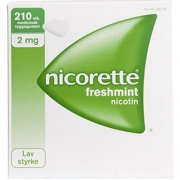 Nicorette Freshmint Tyggegummi, 2 mg, 210 stk.